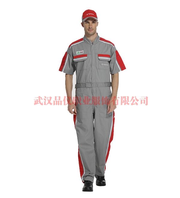 丰田4S店工作服 连体工作服款式图LT0617