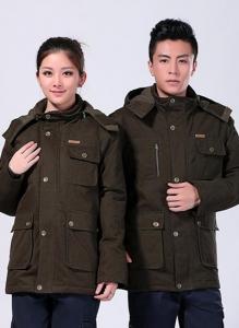 冬季棉衣军绿中长款